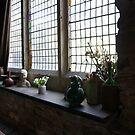 Montsalvat Great Hall window display by BronReid