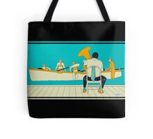 On The Beach - Yellow Shoes, acrylic painting Tote Bag