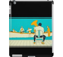 On The Beach - Yellow Shoes, acrylic painting iPad Case/Skin