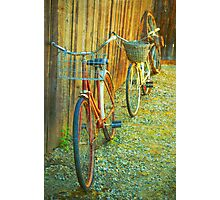 Two Bicycles Photographic Print