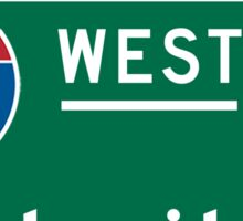Detroit, MI Road Sign Sticker