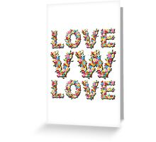 Love VW - Retro Dubbers Greeting Card