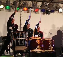 Taiko Drums in Aoshima Japan by johnzorz