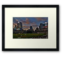 At the Ball Game Framed Print