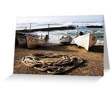 High Tide In Sennen Cove Cornwall Greeting Card