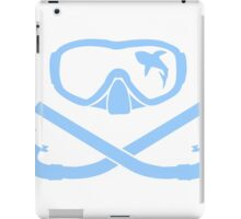 Hai in diving mask with snorkel crossed iPad Case/Skin