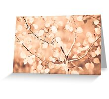 autumn bokeh Greeting Card