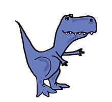 Funky Blue T-Rex Dinosaur Photographic Print