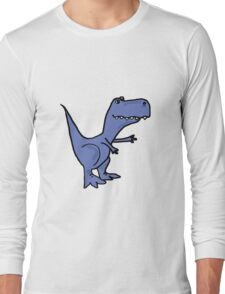 Funky Blue T-Rex Dinosaur Long Sleeve T-Shirt