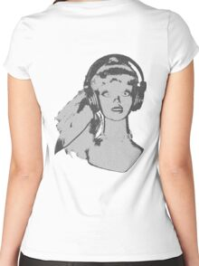 Pop girl reverse Women's Fitted Scoop T-Shirt