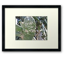 Omar and Alondra Forever Framed Print