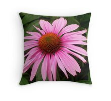 Purple Cone Flower Throw Pillow