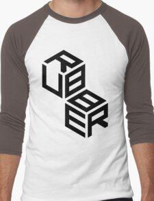 RUBBER cubes - Black Men's Baseball ¾ T-Shirt