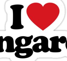 I Love Heart Kangaroos Sticker Sticker