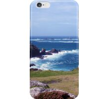 Land's End And Longships Lighthouse Cornwall iPhone Case/Skin