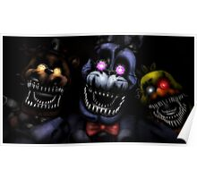 Nightmare Bonnie, Chica and Freddy Poster