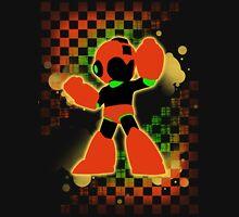 Super Smash Bros. Orange Mega Man Silhouette T-Shirt