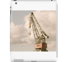 Cranes and Seagulls in Shipyard 1 iPad Case/Skin