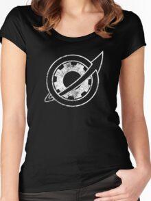 Steins;Gate - Future Gadget Lab (Vintage White) Women's Fitted Scoop T-Shirt