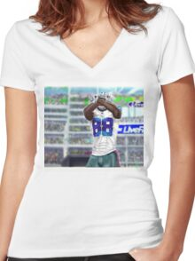 Throw UP the X Women's Fitted V-Neck T-Shirt