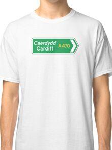 Cardiff, UK Road Sign Classic T-Shirt