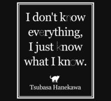 Monogatari - Hanekawa - Know what I know (White) by itsmedio