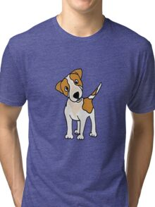 Cool Funny Jack Russell Terrier Puppy Dog Art Tri-blend T-Shirt