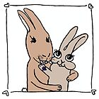 Royal rabbit engagement card. by DoodleDesigns