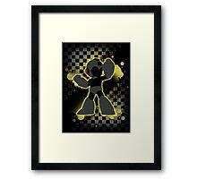Super Smash Bros. Black/Yellow Mega Man Silhouette Framed Print