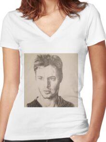 Jensen Ackles Women's Fitted V-Neck T-Shirt