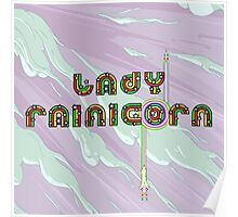 Lady Rainicorn Poster