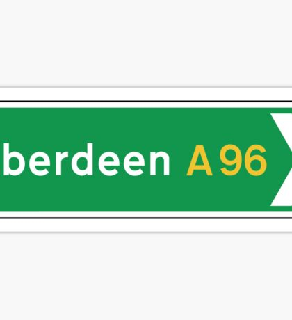 Aberdeen, UK Road Sign Sticker