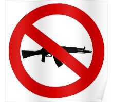Weapons Prohibition sign Poster