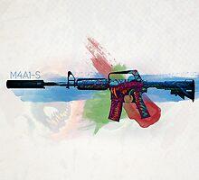 CS:GO M4A1-S Hyper Beast HQ by Dhaxina