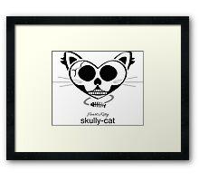HeartKitty Skully-Cat Framed Print