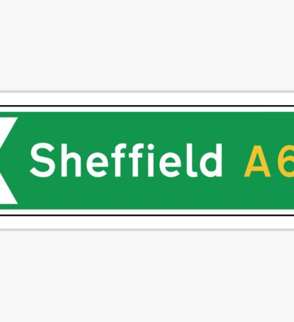 Sheffield, UK Road Sign Sticker