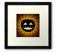 Vintage Halloween pumpkin gifts Framed Print