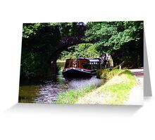 Barge Grand Western Canal Greeting Card