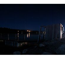 Brisk Night - Peggy's Cove Road, Nova Scotia Photographic Print