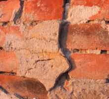 Fragment of an old shabby brick wall Sticker