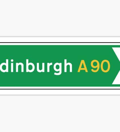 Edinburgh, UK Road Sign Sticker
