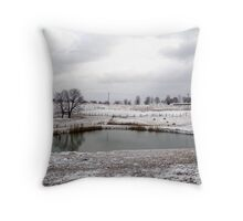 Winter on a Winery Throw Pillow