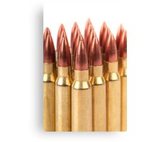 several ammo for the automatic weapons  Canvas Print