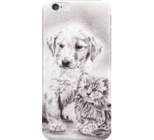 Puppy and Kitten iPhone Case/Skin