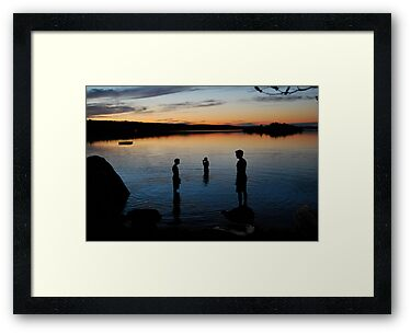 Night Swim 2 - Lunenburg, Nova Scotia by Caites