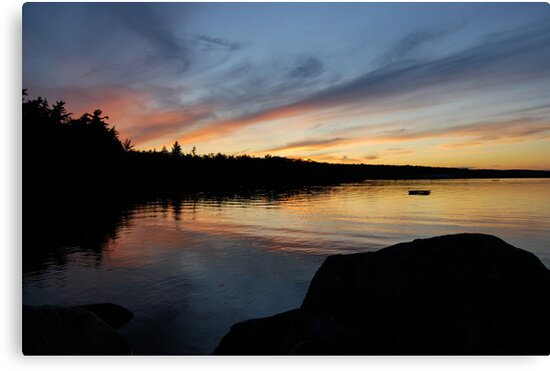 Graceful Sky - Lake Sunset by Caites