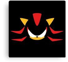 Shadow the Hedgehog Minimalistic Design Canvas Print