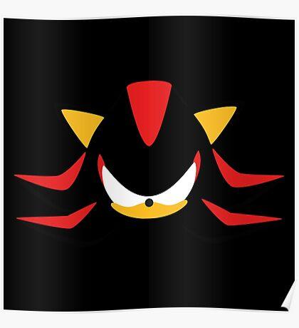 Shadow the Hedgehog Minimalistic Design Poster