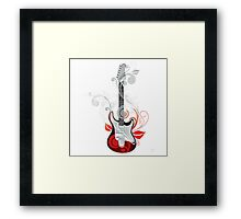 The flower guitar  Framed Print