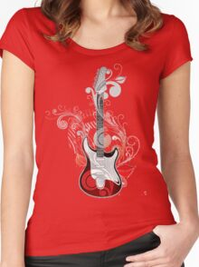 The flower guitar  Women's Fitted Scoop T-Shirt